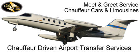 London Heathrow International Airport: Transfers to and from London Heathrow in a licensed chauffeur driven car or limousine